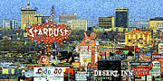 The Houses Posters - Vintage Las Vegas Skyline 20130505v1 Poster by Wingsdomain Art and Photography