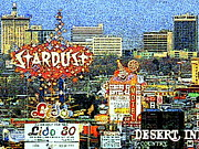 The Houses Posters - Vintage Las Vegas Skyline 20130505v2 Poster by Wingsdomain Art and Photography