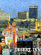 The Houses Posters - Vintage Las Vegas Skyline 20130505v3 Poster by Wingsdomain Art and Photography