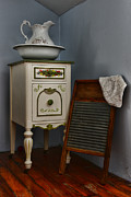 Primitive Art Prints - Vintage Laundry and Wash Room Print by Paul Ward