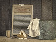 Folk Art Photo Prints - Vintage Laundry Room II Print by Edward Fielding