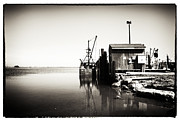Ship In Sepia Photo Posters - Vintage LBI Bay Poster by John Rizzuto