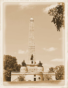 Tombs Digital Art - Vintage Lincolns Tomb by Pamela Briggs-Luther