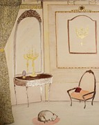 Vintage Living Room Print by Christine Corretti