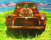Chevrolet Paintings - Vintage love by Patricia Awapara