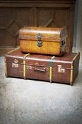 Evacuee Prints - Vintage Luggage Print by Lee Avison