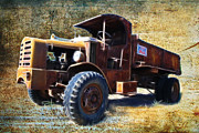 Graffitti Coupe Prints - Vintage Mack Trucks Print by Steve McKinzie