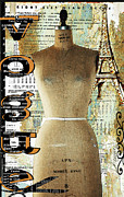 Vogue Mixed Media - Vintage Mannequin Fashion Print by AdSpice Studios