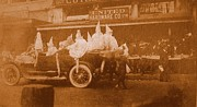 Vintage Mardi Gras Parade On Canal Street Circa 1920's Print by Michael Hoard