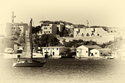 Sailboat Images Metal Prints - Vintage Marseille Sailing Metal Print by John Rizzuto