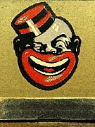 Archives Digital Art - Vintage Matchbook Matches. Strike Side Bellhop. Stylized Happy Negro in Cap by Pierpont Bay Archives