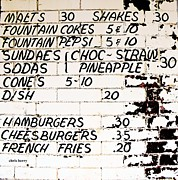 Hamburgers Prints - Vintage Menu Print by Chris Berry