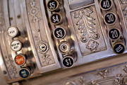 Valuable Prints - Vintage Metal Cash Register Print by Gunter Nezhoda
