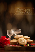 Rack Framed Prints - Vintage Mince Pies Framed Print by Christopher and Amanda Elwell