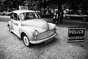 Rally Prints - Vintage Morris Minor Police Car At A Car Rally County Down Northern Ireland Uk Print by Joe Fox