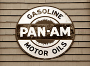 Pan Am Framed Prints - Vintage motor oil Framed Print by David Lee Thompson