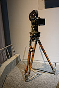 Movie Theater Prints - Vintage Movie Camera on Tripod Print by Paul Ward