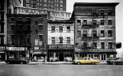 Yellow Taxis Framed Prints - Vintage New York 1 Framed Print by Andrew Fare