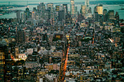 New York City Skyline Photos - Vintage New York Skyline by Silvio Ligutti