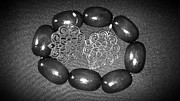 Black And White Photography Jewelry Metal Prints - Vintage Night Out Metal Print by Catherine Ratliff