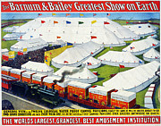 Barnum And Bailey Prints - Vintage Nostalgic Poster - 8007 Print by Wingsdomain Art and Photography