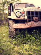 Rusty Truck Prints - Vintage Old Dodge Work Truck Print by Edward Fielding