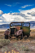 Old West Prints - Vintage Old Truck Print by Robert Bales