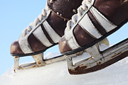 Antique Skates Photo Posters - Vintage Pair Of Mens  Skates  Poster by Mikhail Olykaynen