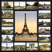 Paris Metal Prints - Vintage Paris 1900 Metal Print by Andrew Fare