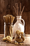 Jars Prints - Vintage Pasta  Print by Christopher and Amanda Elwell