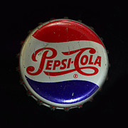 Pepsi Cola Framed Prints - Vintage Pepsi Bottle Cap Framed Print by Paul Ward