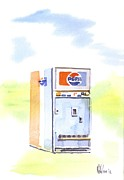 Water Color Acrylic Prints - Vintage Pepsi Acrylic Print by Kip DeVore