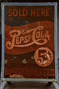 Pepsi Cola Framed Prints - Vintage Pepsi Sign Framed Print by Paul Ward