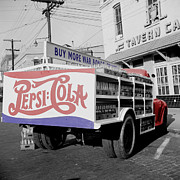 Pepsi Cola Framed Prints - Vintage Pepsi Truck Framed Print by Andrew Fare