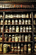 Shelf Digital Art - Vintage Pharmacy Shelf by Bill Cannon