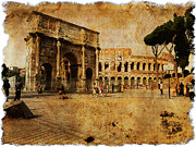 Stefano Senise - Vintage photo of Coliseum