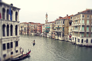 Venice Photo Framed Prints - Vintage photo of Venice Grand Canal Framed Print by Ivy Ho