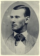 Outlaw Framed Prints - Vintage Photograph of Jesse James Framed Print by Unknown