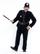 Policeman Photos - Vintage police officer with a baton by Oleksiy Maksymenko