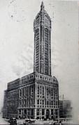 Patricia Hofmeester - Vintage postcard of the Singer building in New York in 1908
