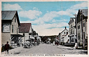 Vintage Postcard Of Wolfeboro New Hampshire Print by Valerie Garner