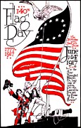 Flag Day Framed Prints - Vintage Poster - America - Flag Day 1917 Framed Print by Benjamin Yeager