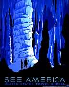 Bureau Photo Prints - Vintage Poster - Carlsbad Caverns National Park Print by Benjamin Yeager