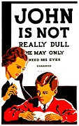 Optometry Prints - Vintage Poster - Not Really Dull Print by Benjamin Yeager