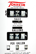 Gallons Prints - Vintage Pump Panel Print by Lawrence Burry