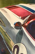 Watercolor Paintings - Vintage Racer by Robert Hooper