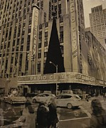 Crosswalk Digital Art - Vintage Radio City Music Hall by Dan Sproul
