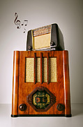 Device Framed Prints - Vintage Radios Framed Print by Carlos Caetano