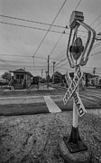 Train Depot Photos - Vintage Railway Crossing by Mike Burgquist