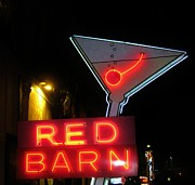 Vintage Red Barn Neon Sign Las Vegas Print by John Malone